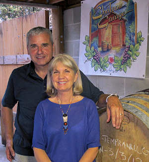 Tony and Jane Spica at the Chateau Garage Winery